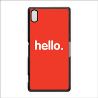 Hello Black Hard Plastic Case for Sony Xperia Z2 by textGuy