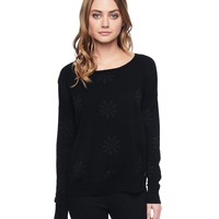 Tonal Daisy Intarsia Pullover by Juicy Couture