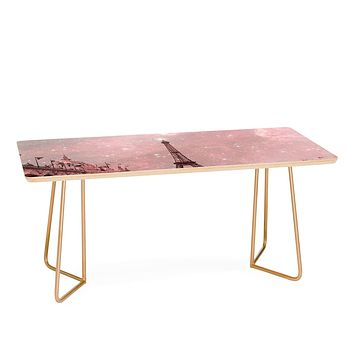 Bianca Green Stardust Covering Vintage Paris Coffee Table