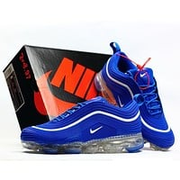 Bunchsun NIKE VAPORMAX 97 Fashion New Hook Men Sports Sneakers Air Cushion Running Shoes Blue