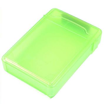 Green Hard Drive Disk Plastic Protect Storage Box Case for 3.5 Inch SATA IDE HDD