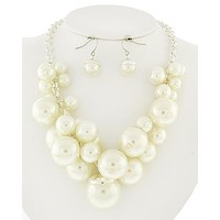 SALE  Pearl Cluster Bridal Necklace