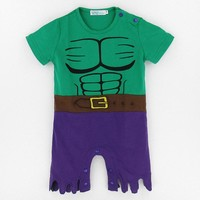 Baby Boys Hulk Costume Romper Newborn Superhero Party Jumpsuits Infant Avengers Playsuit Halloween Costume For Baby Boy