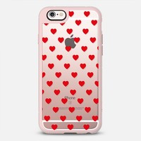 Red Hearts Patterned Transparent Valentine's Day Love iPhone 6s case by CreativeAngel | Casetify