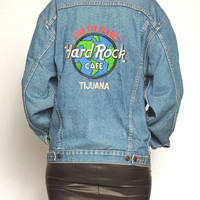 Vintage Denim Hard Rock Cafe Jacket
