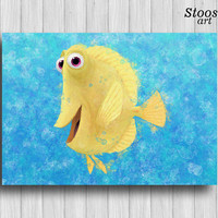 fish print finding dory nautical wall decor disney print