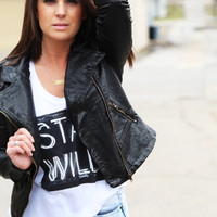 Forever Young Leather Jacket