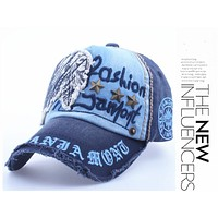 Cotton Fashion Embroidery Antique Style Baseball Cap  Snapback Hat For Men Women