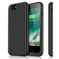 ICIK3SY iPhone 7 Battery Case & iPhone 8 Battery Case| iPosible 4500mAh Ultra Slim Extended Battery Backup Case Charger Pack Power Bank for iPhone 7 8 (47inch)-Black