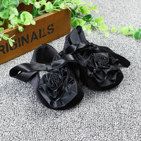 Black Shoes With Rose