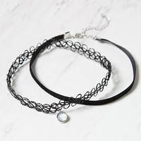 LA Hearts Charm Choker Set at PacSun.com