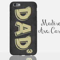 Dad Of 3 Kids Custom Man Guy Christmas Gift From Rustic Kids Son Daughter Father's Day Samsung Edge iPhone Case 4 5 6s Plus Tough Phone Case