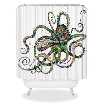 Octopsychedelia Shower Curtain