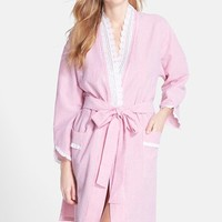 Women's Eileen West 'Muir' Short Seersucker Robe,