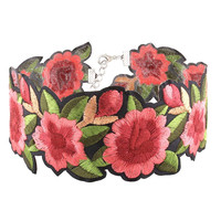 NINA - Vintage Embroidered Flower Choker