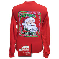 Girlie Girl Originals Christmas Dear Santa, I Can Explain Long Sleeves T Shirt