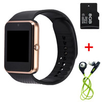2016 newest hot sale Smart Watch GT08 Clock Sync Notifier support SIM TF Card Connectivity Apple iphone Android Phone Smartwatch