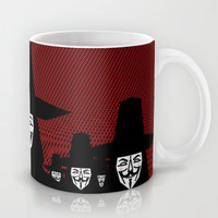 Million Mask March Mug by Chobopop