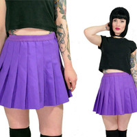 vintage 90s cheerleading mini skirt high waisted pleated skirt pastel grunge lilac uniform skirt schoolgirl kawaii soft grunge small