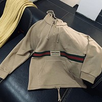 GUCCI Sweatshirt with Web and Gucci label