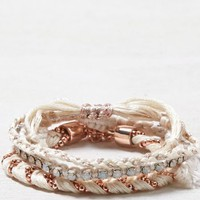 AEO Women's Rose Gold Bracelet Set (Cream)