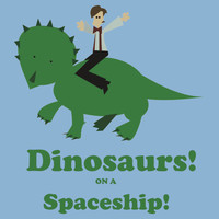 Dinosaurs on a Spaceship T-Shirts & Hoodies