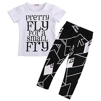 Kids Boys Clothes Baby Boys Summer Clothes Set Short Sleeve Tops+Pants Outfits