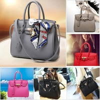Fashion Women Handbag Tote Purse Shoulder Bag Lock Messenger Hobo Bag Satchel