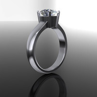 Forever Brilliant Moissanite Oval Solitaire Engagement Ring 2.26 CTW