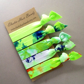 The Ashley Tie Dye Hair Tie - Ponytail Holders