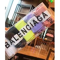 Balenciaga Popular Women Men Sport Breathable Pure Cotton Socks - Boxed