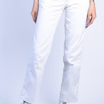 White Relaxed Carpenter Pants by Dickies Girl