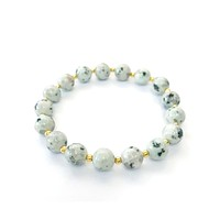 Stretch Stacking Bracelet Ivory Stone