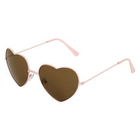 Heart Shaped Aviator Sunglasses | Shop Junior Clothing at Wet Seal
