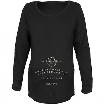 Halloween Ouija Board Costume Black Maternity Soft Long Sleeve T-Shirt