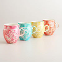 Spring Floral Bella Mugs, Set of 4