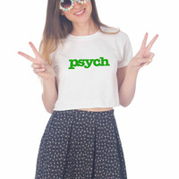 Psych Green For Womens Crop Shirt **
