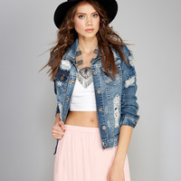 Shredded Denim Jacket | Wet Seal