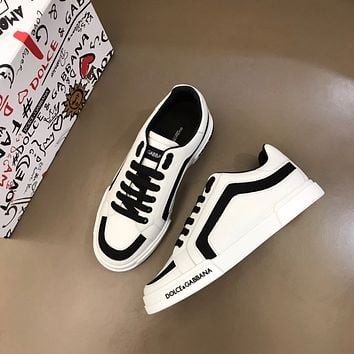Dolce&Gabban*  Men Fashion Boots fashionable Casual leather Breathable Sneakers Running Shoes0413em