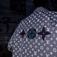 LV Louis Vuitton reflective full print jacket