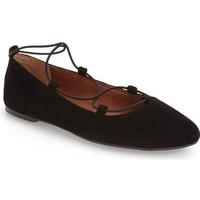 Lucky Brand 'Aviee' Lace-Up Flat (Women) | Nordstrom