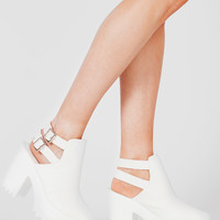 Kembra White Buckle Boot