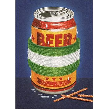 Birthday Greeting Card  - Beer with Sweat Band