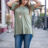 Hooked On You Tee, Olive