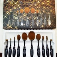 Anastasia Beverly Hills Professional 10 Piece Black Oval LIMITED EDITION Brush Set