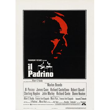 The Godfather Poster Italian Release//The Godfather Movie Poster//Movie Poster//Poster Reprint