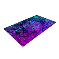 """Ebi Emporium """"Reach For The Stars"""" Pink Teal Woven Area Rug"""