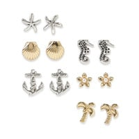 Beach Stud Earring 6-Pack