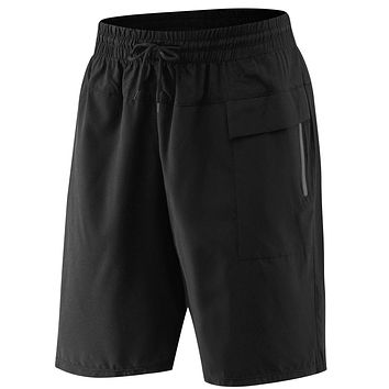PEPEPEACOCK Men's Athletic Running Shorts with Pockets and Zip Front Pocket