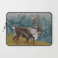 Caribou  Laptop Sleeve by North Star Artwork